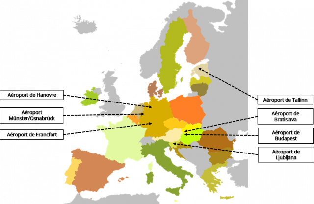 Quelques RTE-T références – Aéroports